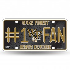 WAKE FOREST #1 FAN METAL TAG