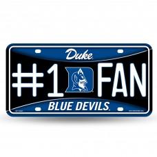 DUKE #1 METAL BLUE LICENSE PLATE