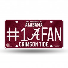 ALABAMA SCRIPT A #1 FAN METAL TAG