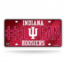 INDIANA #1 FAN METAL LICENSE PLATE