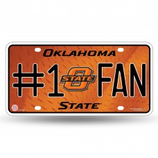 OKLAHOMA STATE #1 FAN METAL TAG