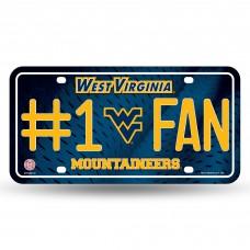 WEST VIRGINIA #1 FAN METAL TAG