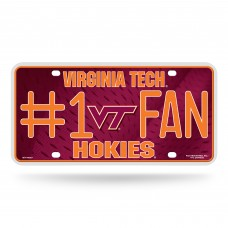 VIRGINIA TECH #1 FAN METAL TAG