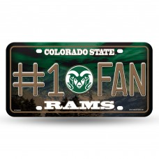 COLORADO STATE #1 FAN METAL LICENSE PLATE