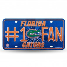 FLORIDA BLING # 1 FAN METAL LICENSE PLATE
