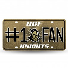 CENTRAL FLORIDA BLING # 1 FAN METAL LICENSE PLATE