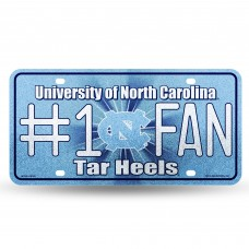 NORTH CAROLINA BLING # 1 FAN METAL TAG