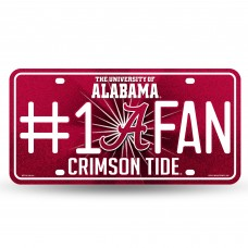 ALABAMA BLING # 1 FAN METAL LICENSE PLATE