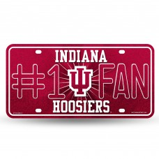 INDIANA BLING # 1 FAN METAL TAG