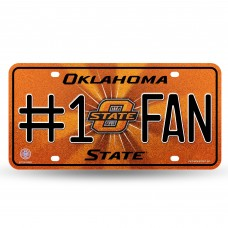 OKLAHOMA STATE BLING # 1 FAN METAL TAG