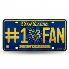 WEST VIRGINIA BLING # 1 FAN METAL TAG