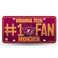 VIRGINIA TECH BLING # 1 FAN METAL TAG