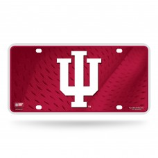 INDIANA UNIVERSITY RED BG METAL LICENSE PLATE