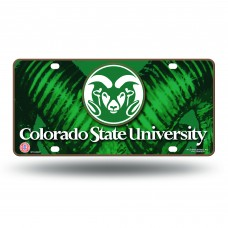 COLORADO STATE HORNS METAL LICENSE PLATE