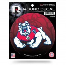 FRESNO STATE ROUND DECAL