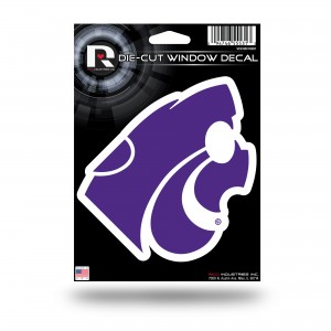 KANSAS STATE MEDIUM DIE CUT DECAL