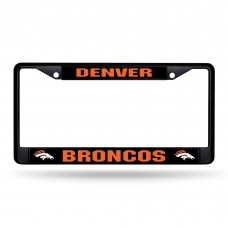 BRONCOS BLACK CHROME COLORADO LICENSE PLATE FRAME