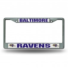 BALTIMORE RAVENS WHITE CHROME FRAME Baltimore Ravens Logo Products