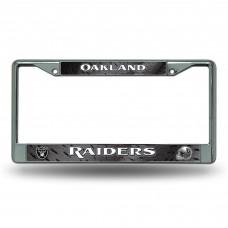 RAIDERS BLACK BG CHROME FRAME Oakland Raiders Logo Products