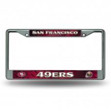 SAN FRANCISCO 49'ERS RED BG CHROME FRAME