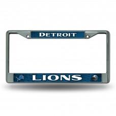 DETROIT LIONS DARK BLUE CHROME FRAME