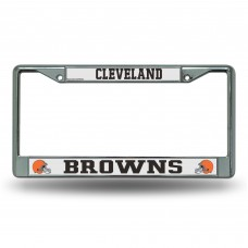 BROWNS WHITE AND BLACK CHROME FRAME