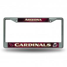 ARIZONA CARDINALS RED CHROME FRAME Arizona Cardinals Logo Products