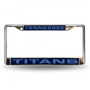 TITANS BLUE LASER CHROME TENNESSEE LICENSE PLATE FRAME