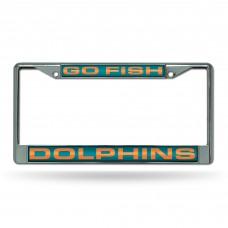 """DOLPHINS """"GO FISH"""" LASER CHROME FRAME"""