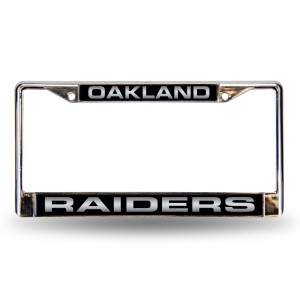 RAIDERS BLK LASER CHROME CALIFORNIA LICENSE PLATE FRAME