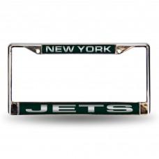 NEW YORK JETS GREEN LASER CHROME FRAME