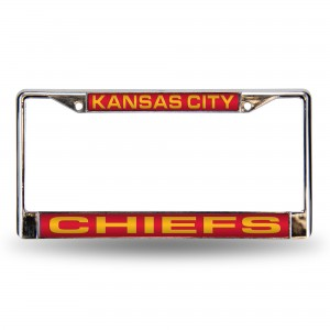 CHIEFS RED LASER CHROME KANSAS LICENSE PLATES FRAME