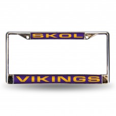 "VIKINGS ""SKOL"" LASER CHROME FRAME"