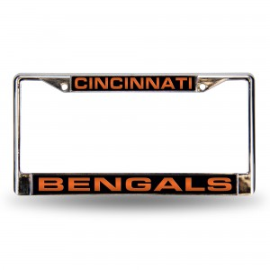 BENGALS LASER CHROME OHIO LICENSE PLATE FRAME