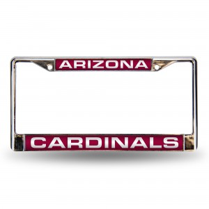 AZ CARDINALS RED LASER CHROME ARIZONA LICENSE PLATES FRAME