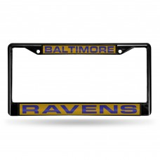 BALTIMORE RAVENS BLACK LASER CHROME FRAME
