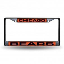 CHICAGO BEARS BLACK LASER CHROME FRAME