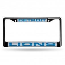 DETROIT LIONS BLACK LASER CHROME FRAME