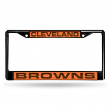 CLEVELAND BROWNS BLACK LASER CHROME FRAME