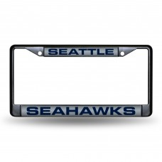 SEATTLE SEAHAWKS BLACK LASER CHROME FRAME