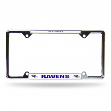 BALTIMORE RAVENS WHITE EZ VIEW CHROME FRAME Baltimore Ravens Logo Products