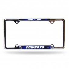 DALLAS COWBOYS BLUE EZ VIEW CHROME FRAME Dallas Cowboys Logo Products
