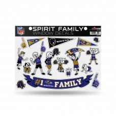 RAVENS FAMILY STICKER SHEET LARGE