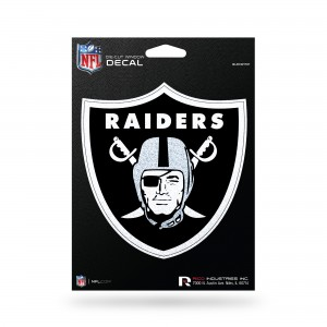 OAKLAND RAIDERS BLING MEDIUM DIE CUT DECAL