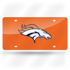 DENVER BRONCOS ORANGE LASER COLORADO LICENSE PLATE