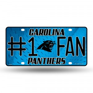 CAR. PANTHERS #1 FAN PRIMARY METAL NUMBER PLATE