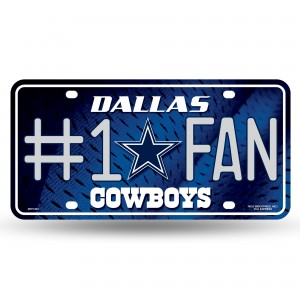 COWBOYS #1 FAN PRIMARY LOGO METAL NUMBER PLATE