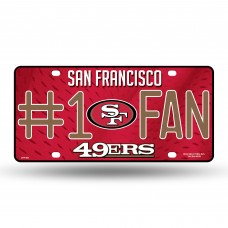 49'ERS #1 FAN PRIMARY LOGO METAL TAG