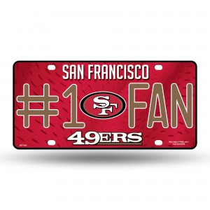 49'ERS #1 FAN PRIMARY LOGO METAL NUMBER PLATE