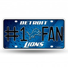 LIONS #1 FAN PRIMARY LOGO METAL TAG
